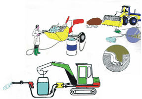 High Pressure Cleaning for Excavators, Dumpers and Plaster Machines